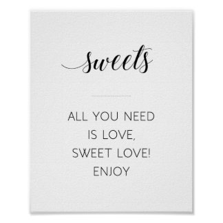 All You Need Is Love Sweet Love Sign - Alejandra