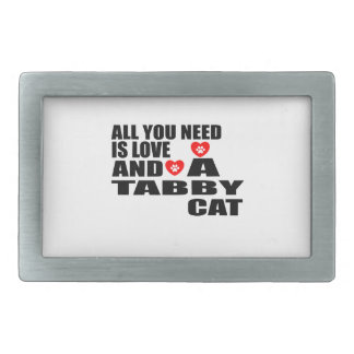 ALL YOU NEED IS LOVE TABBY CAT DESIGNS BELT BUCKLE
