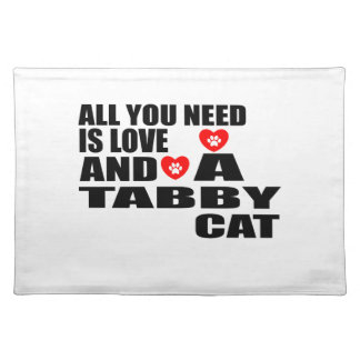 ALL YOU NEED IS LOVE TABBY CAT DESIGNS PLACEMAT