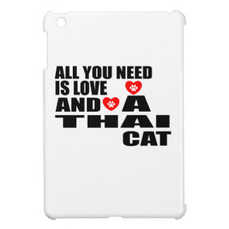 ALL YOU NEED IS LOVE THAI CAT DESIGNS iPad MINI CASES