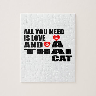 ALL YOU NEED IS LOVE THAI CAT DESIGNS JIGSAW PUZZLE