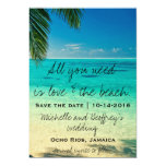 """All You Need Is Love & The Beach Save the Date 5"""" X 7"""" Invitation Card"""