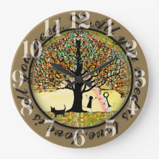 All you need is love tree of life wall clock
