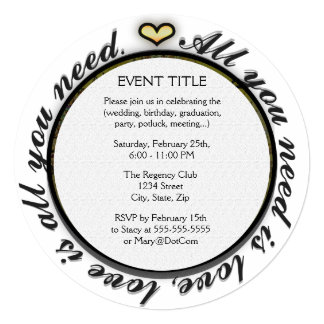 "All you need is love tree of life with rainbow. 5.25"" square invitation card"