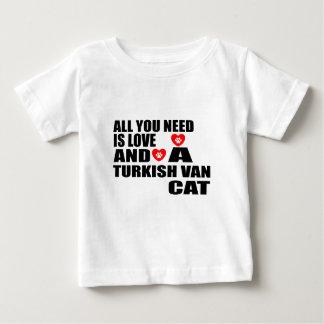 ALL YOU NEED IS LOVE TURKISH VAN CAT DESIGNS BABY T-Shirt