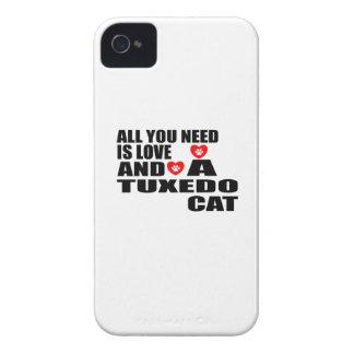 ALL YOU NEED IS LOVE TUXEDO CAT DESIGNS Case-Mate iPhone 4 CASES