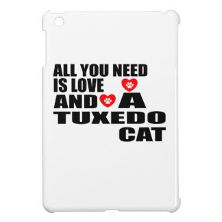 ALL YOU NEED IS LOVE TUXEDO CAT DESIGNS COVER FOR THE iPad MINI