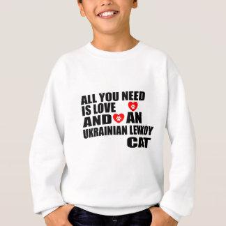 ALL YOU NEED IS LOVE UKRAINIAN LEVKOY CAT DESIGNS SWEATSHIRT