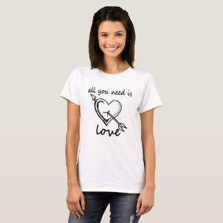 all you need is love valentine shirt .
