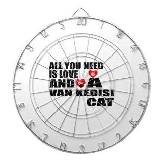 ALL YOU NEED IS LOVE VAN KEDISI CAT DESIGNS DARTBOARD
