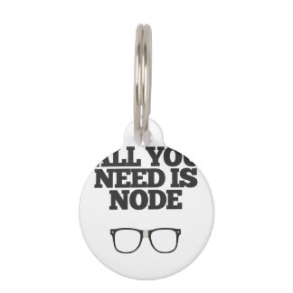 All You Need Is Node Nerd Typography Pet Nametags