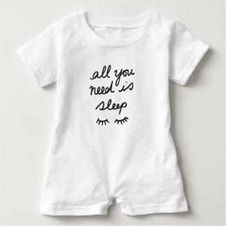 All You Need Is Sleep Baby Romper