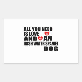All You Need Love IRISH WATER SPANIEL Dogs Designs Sticker