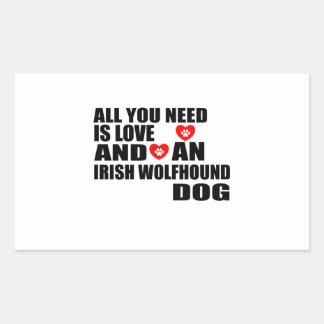 All You Need Love IRISH WOLFHOUND Dogs Designs Sticker