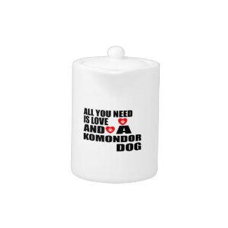 All You Need Love KOMONDOR Dogs Designs