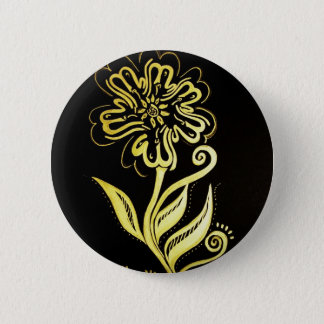 allah (flower) 2 inch round button