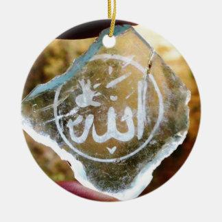 Allah in Jordan Ceramic Ornament