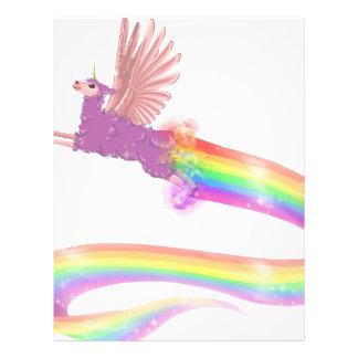 Allamacorn Rainbow Letterhead Template