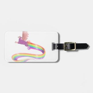 Allamacorn Rainbow Luggage Tag