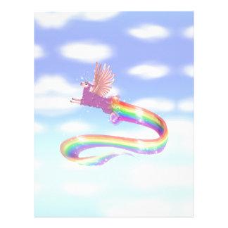 Allamacorn Sky Personalized Letterhead