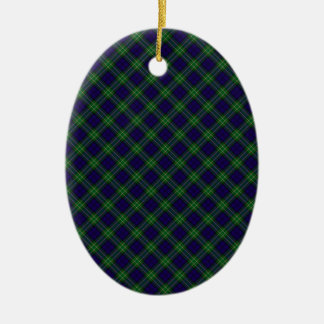 Allan Clan Tartan Designed Print Ceramic Ornament