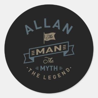 Allan Classic Round Sticker