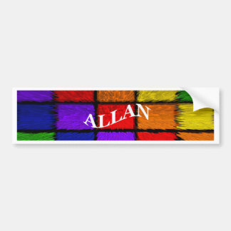 ALLAN (male names) Bumper Sticker