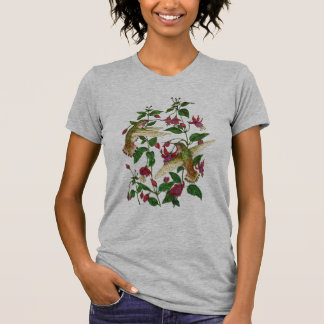 Allan's hummingbird and Fuschia T-Shirt