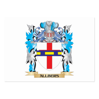 Allbers Coat Of Arms Business Card