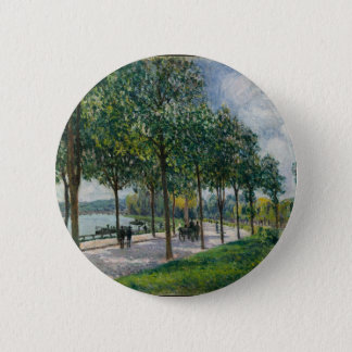 Allée of Chestnut Trees - Alfred Sisley 2 Inch Round Button