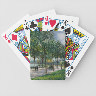 Allée of Chestnut Trees - Alfred Sisley Bicycle Playing Cards