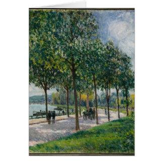 Allée of Chestnut Trees - Alfred Sisley Card