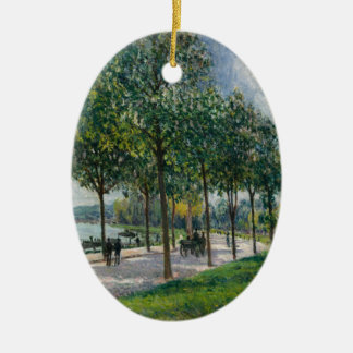 Allée of Chestnut Trees - Alfred Sisley Ceramic Ornament