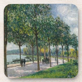 Allée of Chestnut Trees - Alfred Sisley Coaster