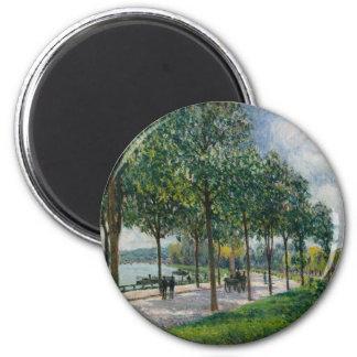 Allée of Chestnut Trees - Alfred Sisley Magnet