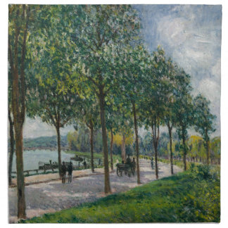 Allée of Chestnut Trees - Alfred Sisley Napkin