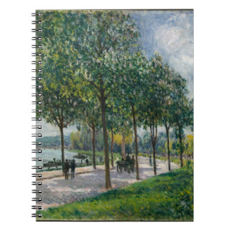 Allée of Chestnut Trees - Alfred Sisley Notebooks