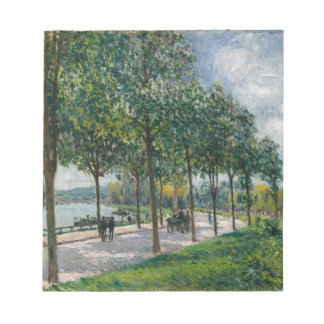 Allée of Chestnut Trees - Alfred Sisley Notepad