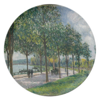 Allée of Chestnut Trees - Alfred Sisley Plate