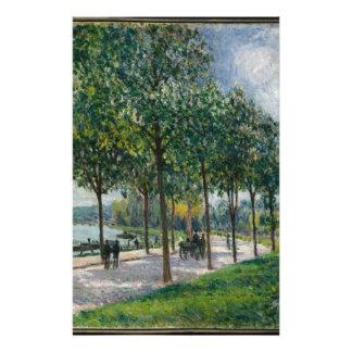 Allée of Chestnut Trees - Alfred Sisley Stationery