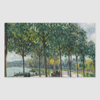 Allée of Chestnut Trees - Alfred Sisley Sticker