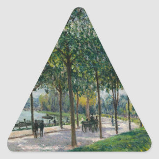 Allée of Chestnut Trees - Alfred Sisley Triangle Sticker
