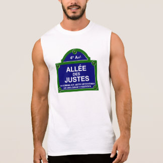 Allée des Justes, Paris Street Sign Sleeveless Shirt