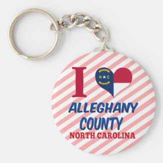 Alleghany County, North Carolina Keychain
