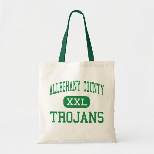 Alleghany County - Trojans - High - Sparta Canvas Bags