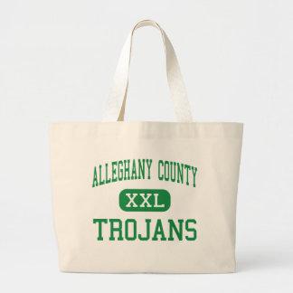 Alleghany County - Trojans - High - Sparta Jumbo Tote Bag