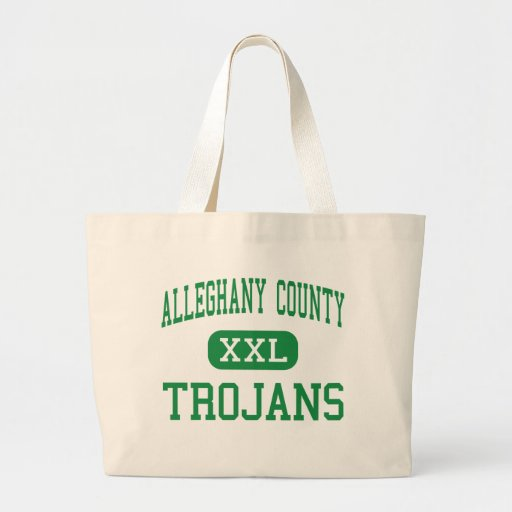 Alleghany County - Trojans - High - Sparta Tote Bags