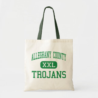 Alleghany County - Trojans - High - Sparta Budget Tote Bag