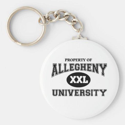 Allegheny University Keychains