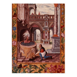 Allegorical illustration of an Alchemist at Postcard